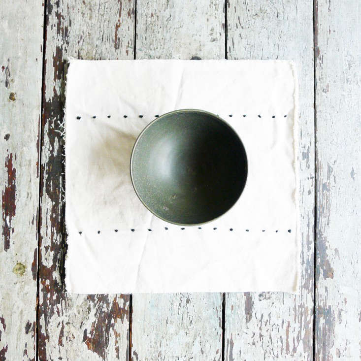 Specialty Dry Goods unfinished edge placemat Remodelista