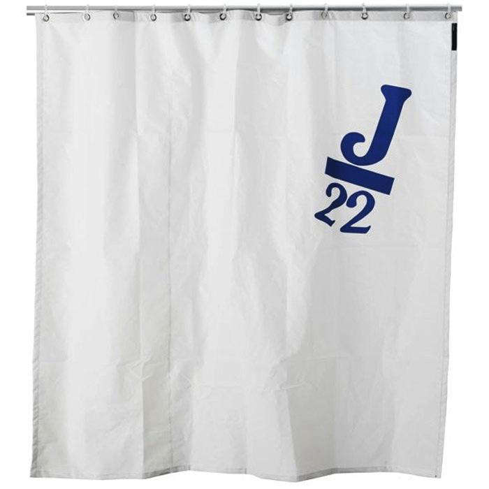 the nauticalspinnaker sail shower curtain is currently on sale for \$79.99 fr 18