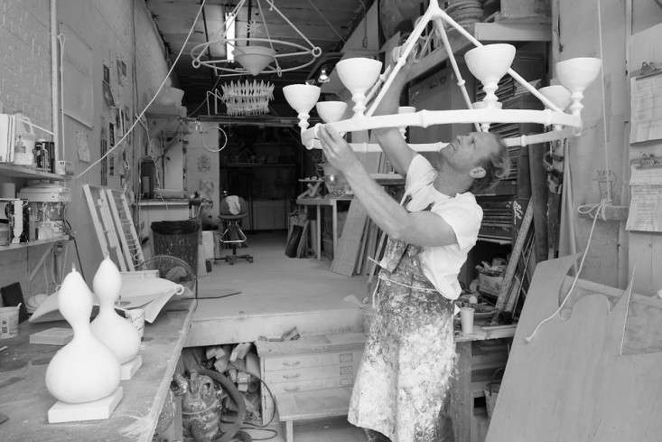 The Master of Plaster Stephen Antonsons Sculptural Lighting portrait 4