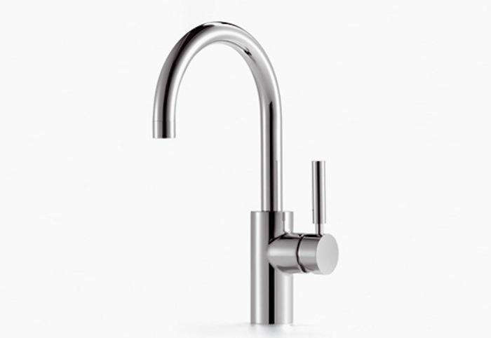 The Dornbracht Tara Logic Single-Level Basin Mixer, a modern classic, is $src=