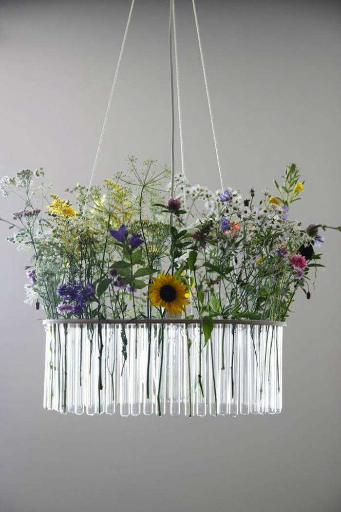 Garden in the Sky Test Tube Chandeliers from Poland portrait 3
