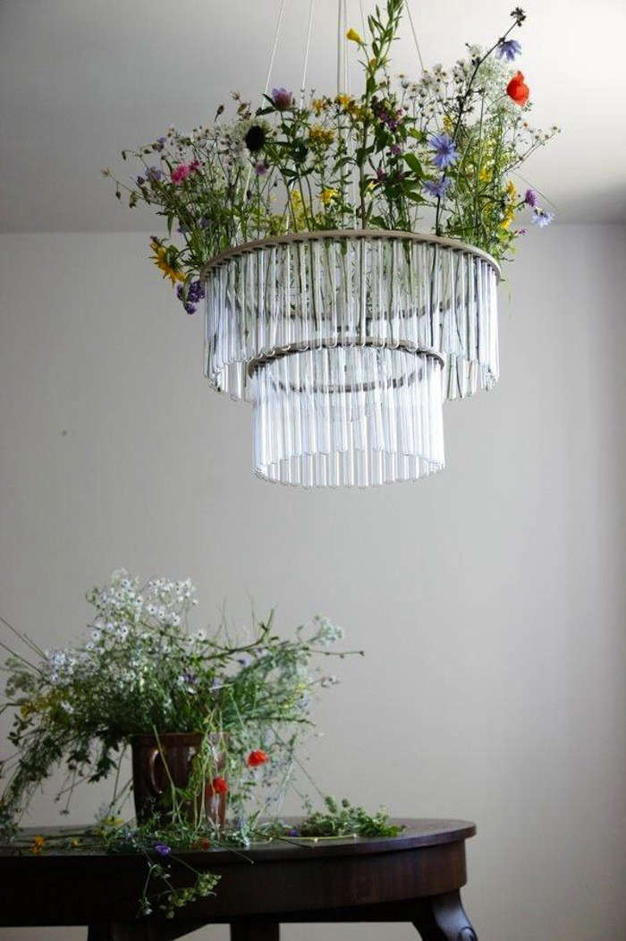 Garden in the Sky Test Tube Chandeliers from Poland portrait 4
