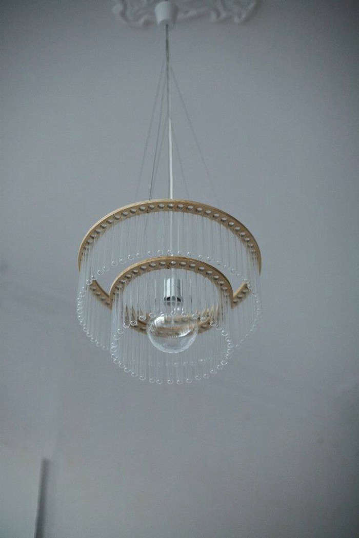 Garden in the Sky Test Tube Chandeliers from Poland portrait 6