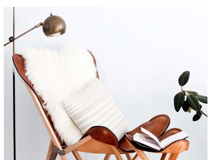 the citizenry&#8\2\17;sbutterfly chair in copper and leather went on sale 9