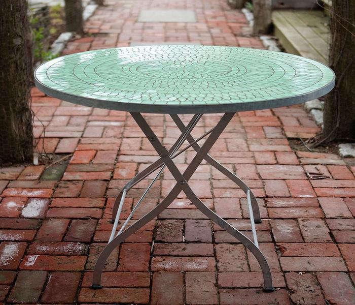 Tile Top Garden Table 01