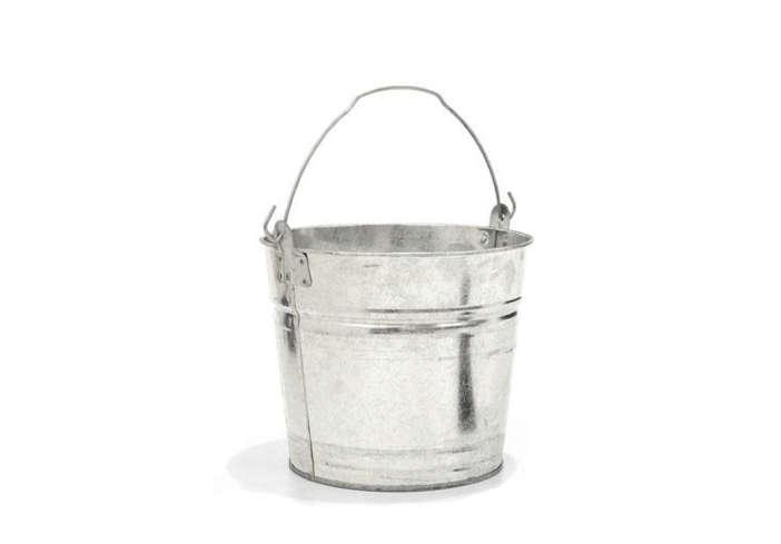 Two Gallon Galvanized Bucket