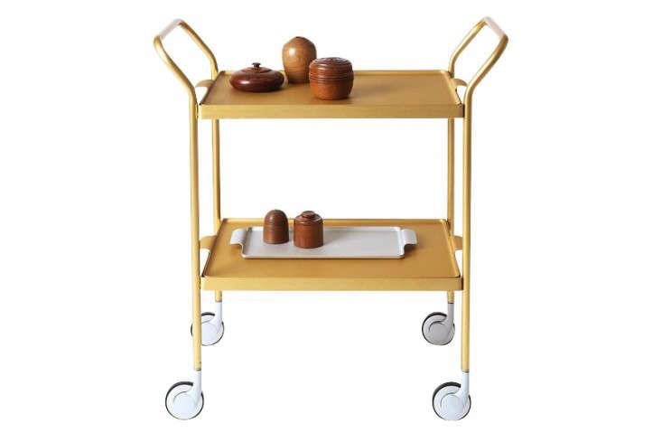 Two Tier Modern Trolley Gold Kaymet