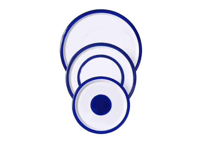 Variopinte Blue and White Enamel Plates