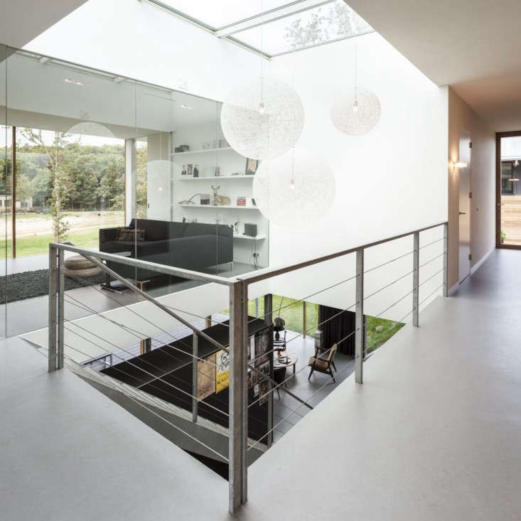 a skylight fills the stairwell with natural light. 18
