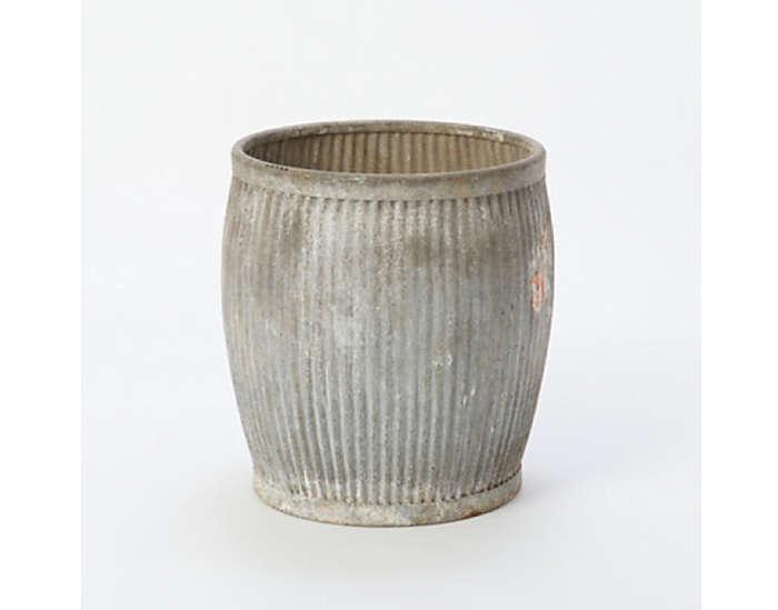 Vintage Zinc Barrel Terrain