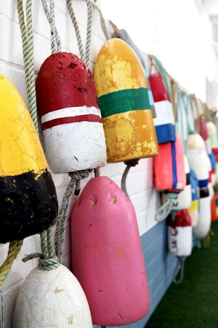 colorful buoys add a cheerful note. 12