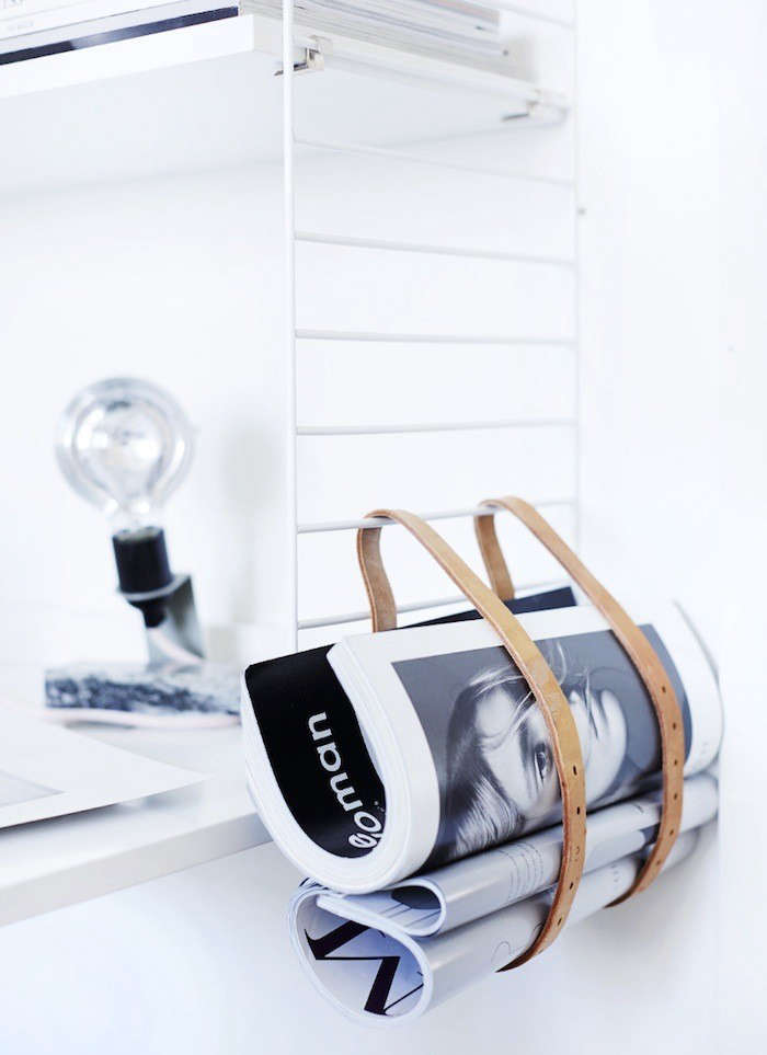 5 Favorites DIY Magazine Racks Made from Leather Straps portrait 4
