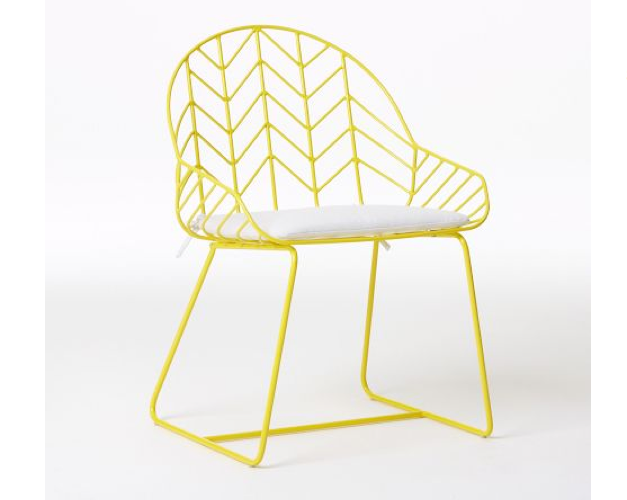Bend It Like Nanda A High Low Wire Chair Remodelista