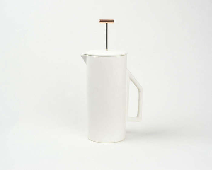 Beautiful Brew The Ceramic French Press from Yield Design portrait 4