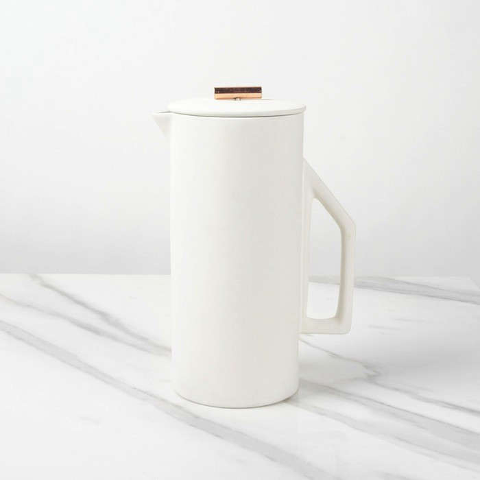 Beautiful Brew The Ceramic French Press from Yield Design portrait 3
