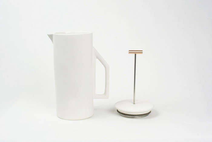 Beautiful Brew The Ceramic French Press from Yield Design portrait 5