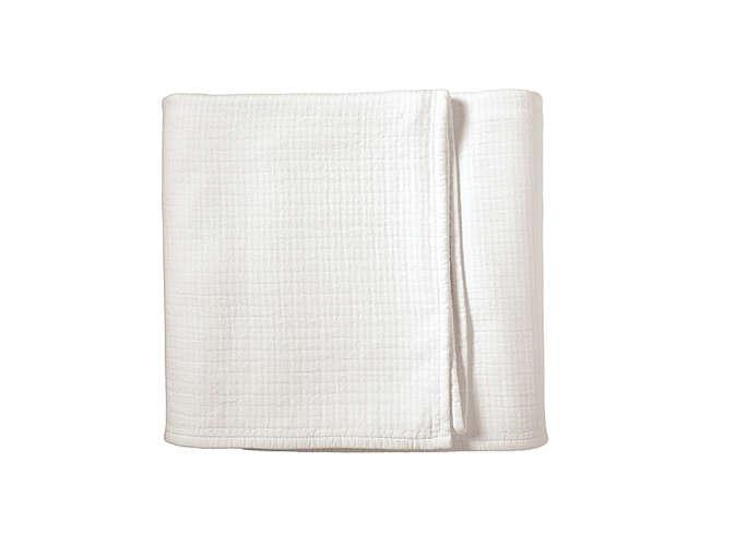 White Pickstitch White Blankets