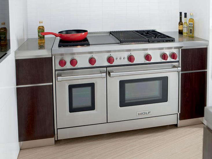 Wolf 48 gas range small space