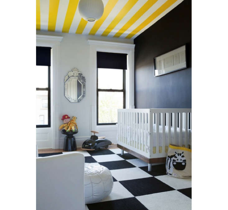 Yellow Stripes in Kids Room The Brooklyn Home Company