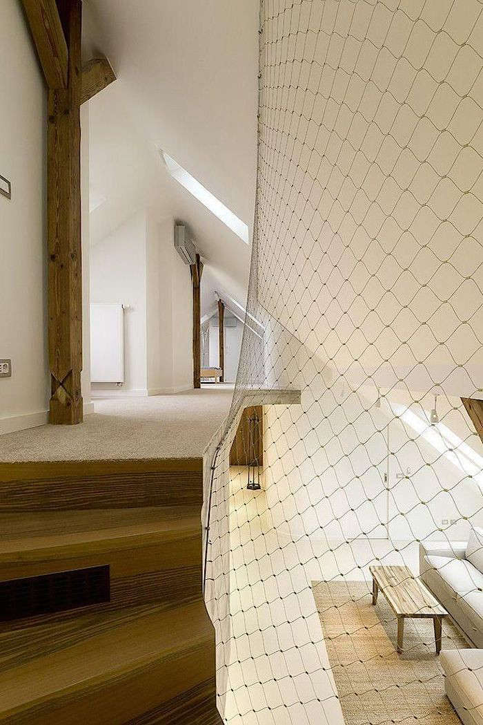 a\1 architects in prague used netting as an elegant safety enclosure that exten 13
