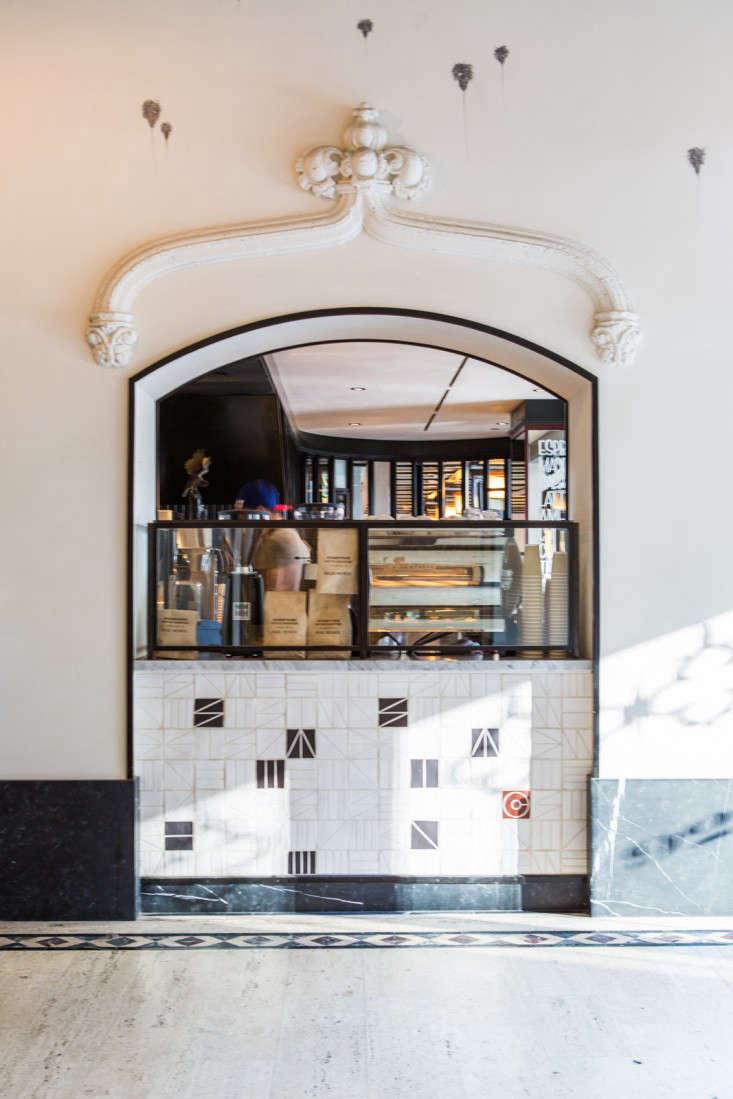 ace lobby tiling detail LA Remodelista