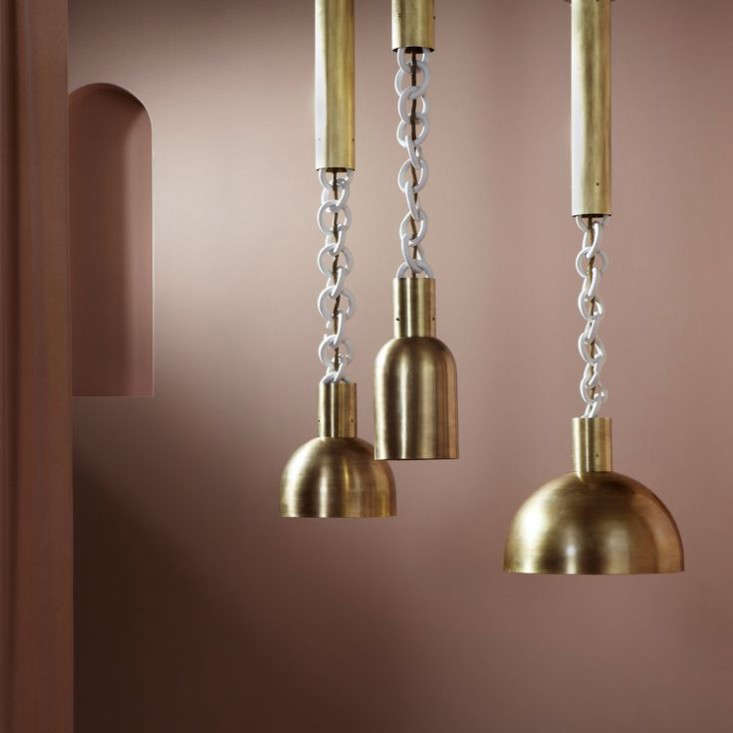 mixed media: new brass and porcelain lighting from apparatus. 9