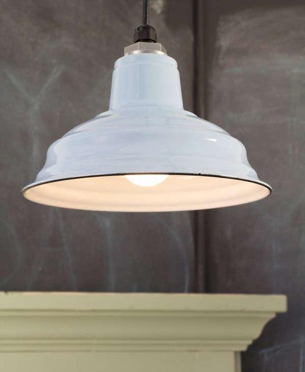 barn light electric white enamel light