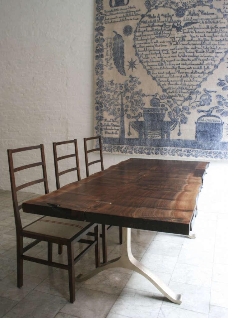 bddw walnut slab dining table remodelista 20