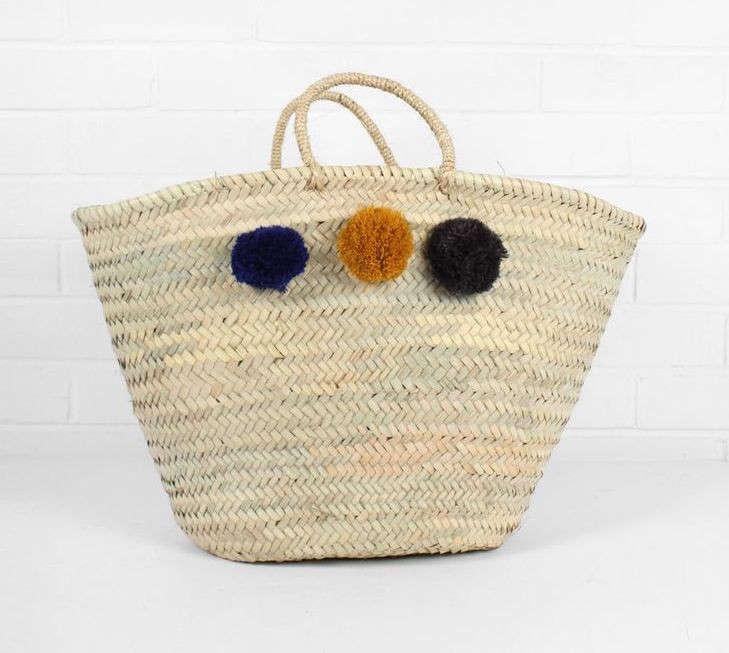 beldi market basket pompom