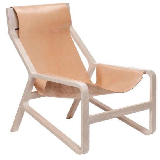 blu dot leather chair