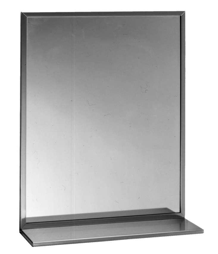 bobrick mirror with shelf