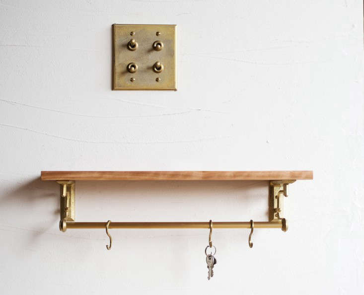 The product line is a collaboration betweenOji Masanori and Yoshiki Yamazaki and includes shelving as well as light switches. Shown above: The In Response Shelf and the four-toggle Switch Plate. Contact Matureware directly for pricing.