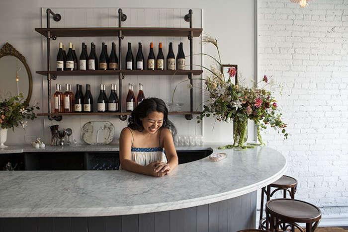 Pretty in Pink Brunette Wine Bar in the Hudson Valley portrait 5