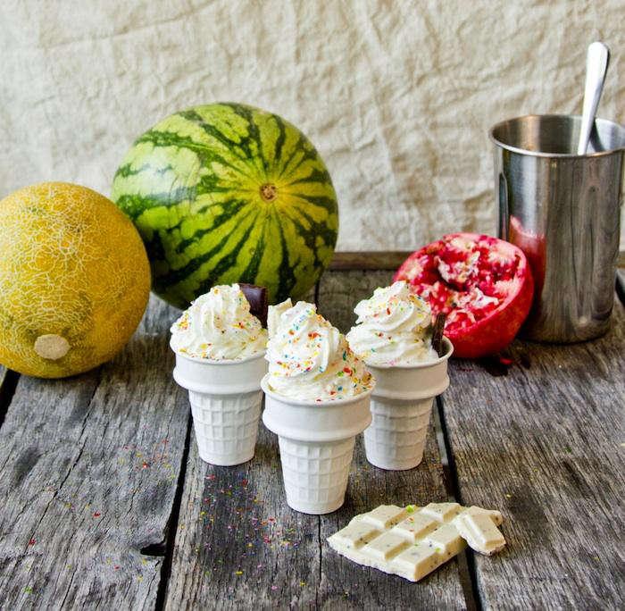 ceramic ice cream cone dish