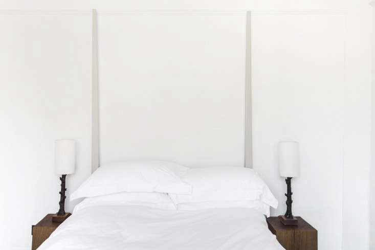 in the smallest bedroom, a recess in the wall works as a headboard. 18