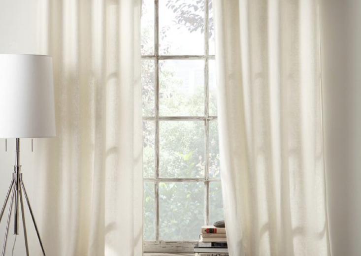 cotton linen curtain west elm