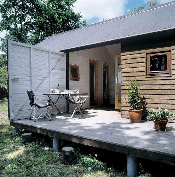 danish summer house open wall
