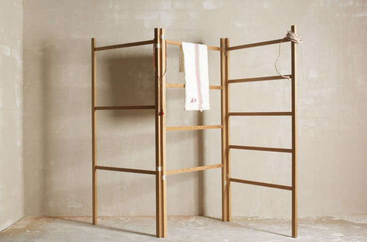 For UK readers, the handmade Shaker Clothes Horse has canvas hinges and folds up neatly; £0 from DeVol. In the US, theSabbathday Lake Shaker Towel Rack Kit is $95 unassembled and $6. assembled from Shaker Workshops.