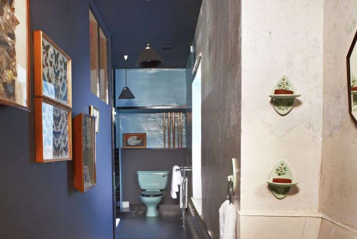 durslade farmhouse colorful bathroom remodelista 1