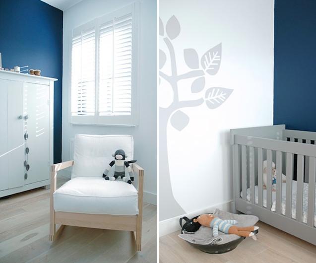 dutch childrens bedroom blue walls
