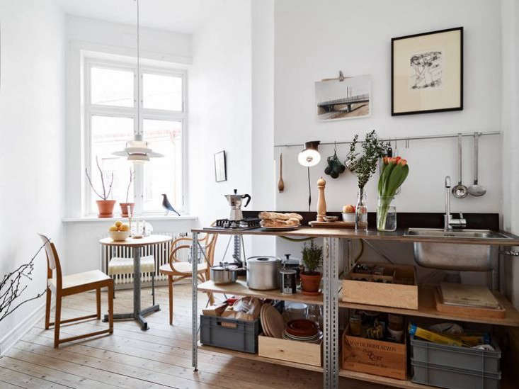 A Stockholm kitchen with a workbench kitchen from Stadshem.
