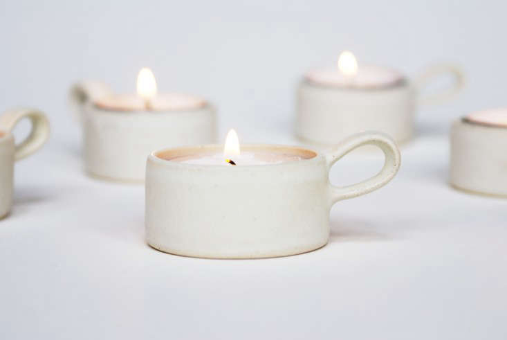 on our wish list: candles instoneware cupsby swedish ceramicist evelina blo 9