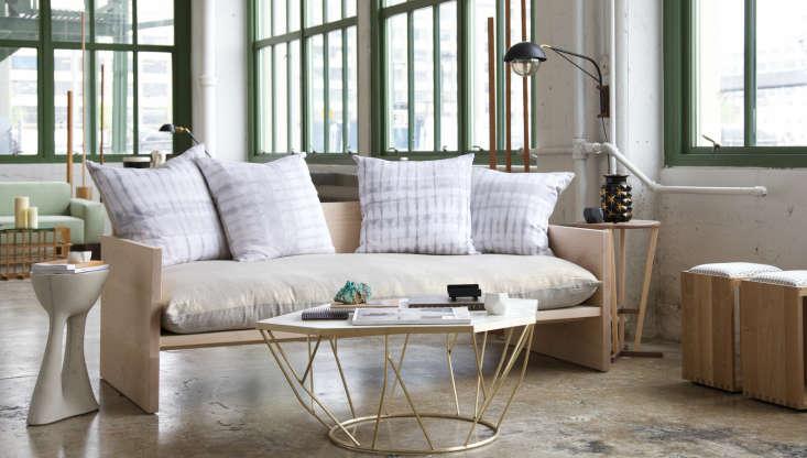 A Modern Daybed Sofa HandDyed Shibori Included portrait 3