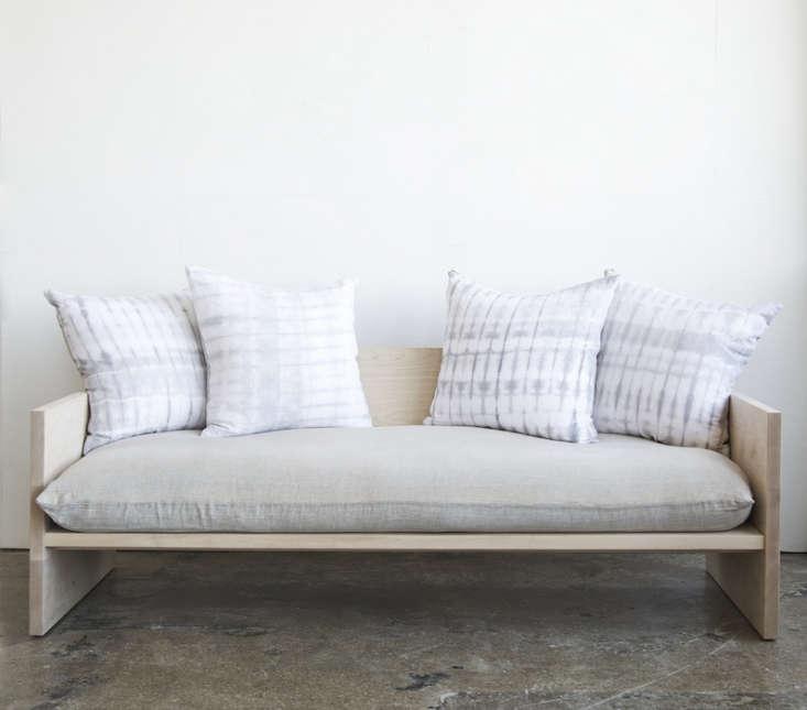 A Modern Daybed Sofa HandDyed Shibori Included portrait 4