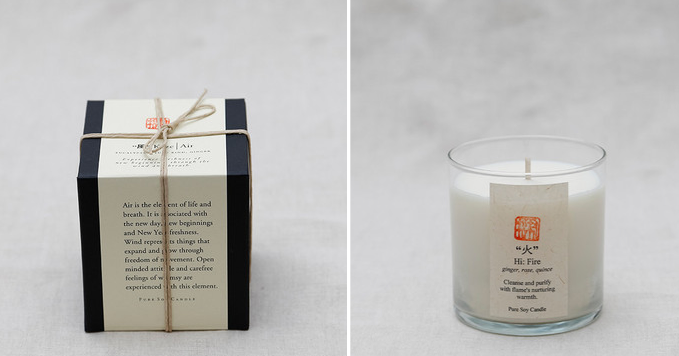 five elements soy candle