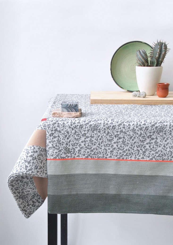 flock table cloth by Mae Engelgeer