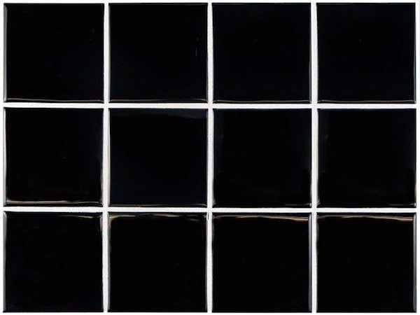 glossy black square tiles home depot remodelista 1