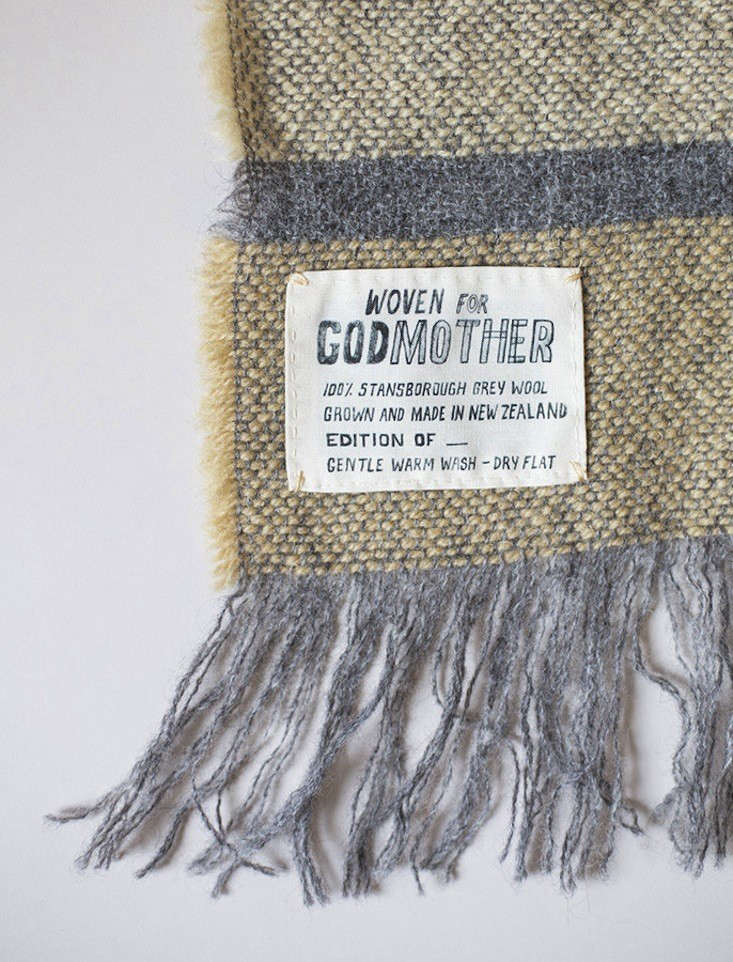 Lightweight Wool Godmother Stansborough Grayscale Blankets from New Zealand portrait 5
