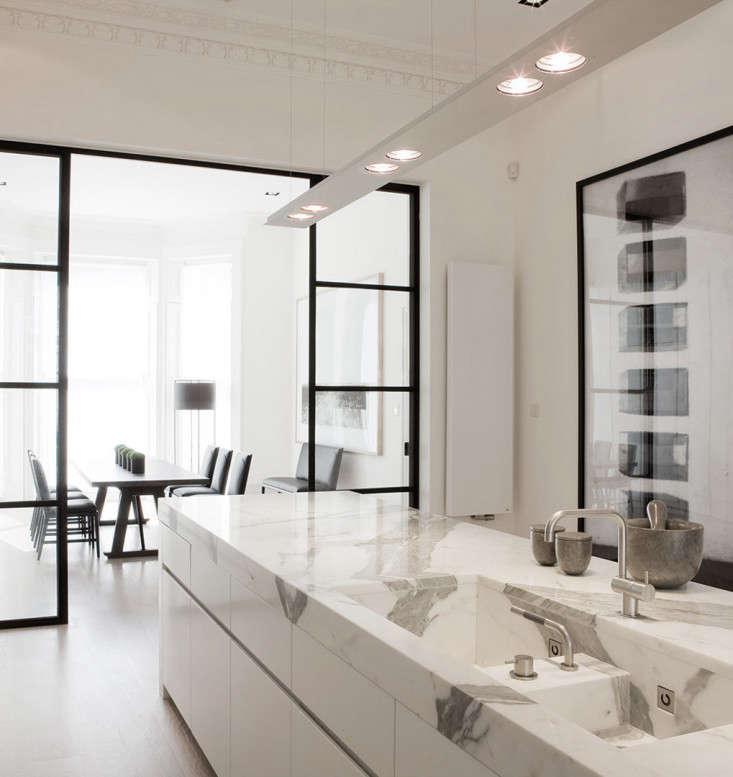 Trend Alert 8 Integrated Marble Kitchen Sinks An integrated marble sink in a kitchen by Belgian company Obumex.