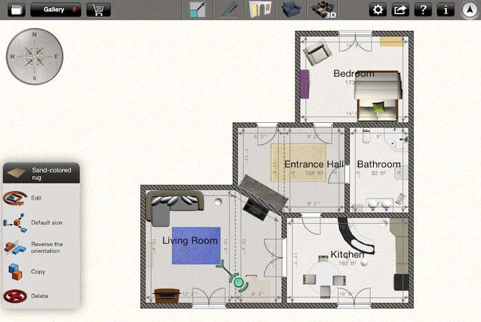 Whether you want to rearrange your furniture or create a draft of your ideal kitchen layout before meeting with your architect, there are several apps available for creating floor plans, including the highly-ratedHome Design 3D($5.99) and Home Design DIY–Mark on Call($
